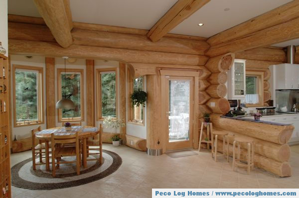 Peco log homes log home pictures Log homes interiors