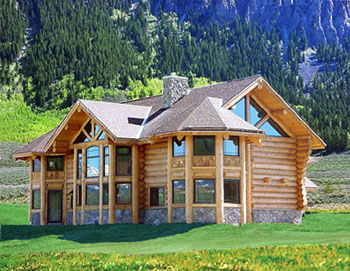 Cabins on Peco Log Homes   Log Home Builder